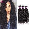8A Melhor cabelo virgem onda de água com fechamento 3 pcs Brasileiros natural da onda com fechamento molhado e ondulado do cabelo humano com fecho