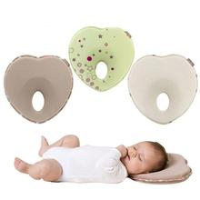 Newborn Baby Anti Roll Cushion Pillows Flat Head Prevent Support Protection Heart Shaped Pillow Memory Foam