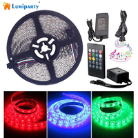 Waterproof Music LED Strip Light 16 4ft 300leds RGB SMD 5050 Color Changing With 20 Keys