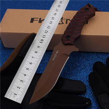 2016 New Rushed Hi-q Fruit Outdoor Camping With Straight Self-defense Wilderness Survival Mountain High Hardness Red Knife