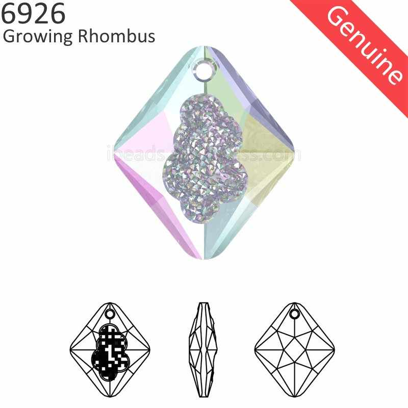 (1 piece) 100% Original Crystal from Swarovski 6926 Growing Crystal rhombus pendant Austria loose beads for DIY Jewelry making