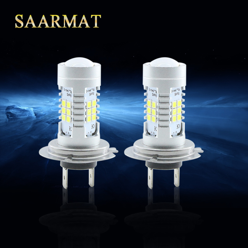 2Pcs  H7  21-SMD  850LM  LED Bulb  Lamp  White Crystal Blue  Fog Light DRL Daytime Running Light new arrival a pair 10w pure white 5630 3 smd led eagle eye lamp car back up daytime running fog light bulb 120lumen 18mm dc12v