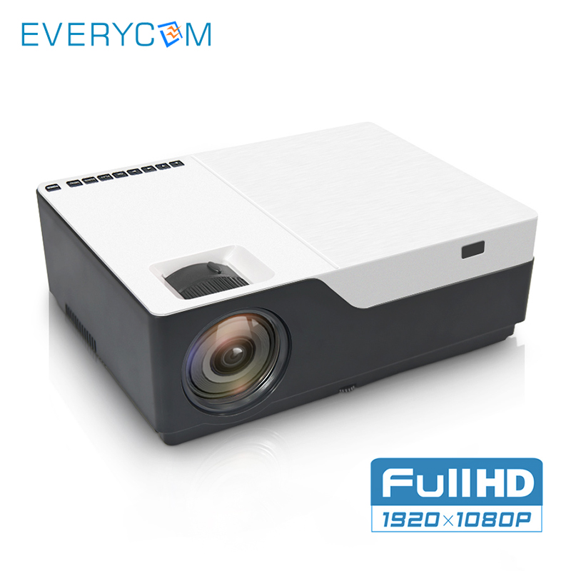 Everycom M18 Inheemse 1920x1080 Real Full Hd Projector Thuis Multimedia Video Game Projector Beamer (optioneel Android Wifi Ac3) Kortingen Prijs
