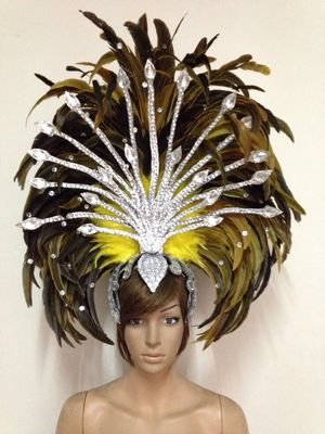 Envío gratis caliente brasil carnaval desfile realizar samba tocado de plumas  para mujeres 1c4b8f813c87