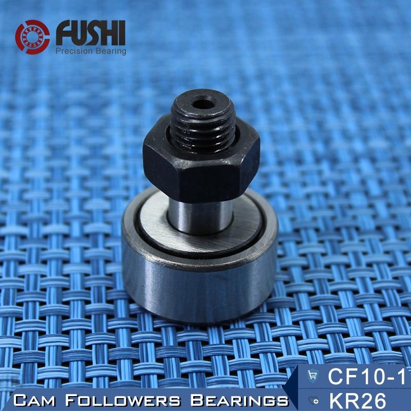 KR26 CF10-1 Cam Followers Bearing 10mm ( 1 PC ) Stud Type Track Rollers KRV26 CF10B NAKD26 KR26PP / UU Bearings CF-10-1 плинт соединительный hyperline на 10 пар маркировка 1 0 kr pl 10 con 1