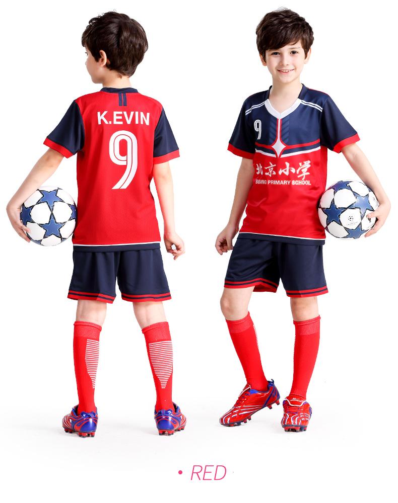 2018 2019 Jersey de fútbol personalizado conjunto de uniformes para niños  equipo de entrenamiento Camisetas De Deportes transpirables 4XS-M 6d7f7d9bc2cc9