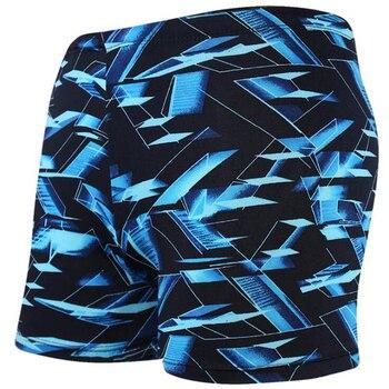 Niebieski 3D przestrzeń Sexy mężczyźni mężczyzna kąpiel pływanie Sport basen kąpielowy garnitur stroje kąpielowe bokserki plaża kąpielówki figi strój kąpielowy kostiumy kąpielowe