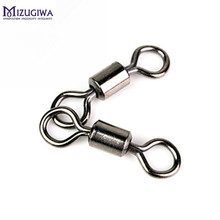 200pcs Fishing Hook Ball Bearing Rolling Swivel Connector Hook Fishing Lure Copper Stainless Steel Fishing Tackle #1-#14 Hook