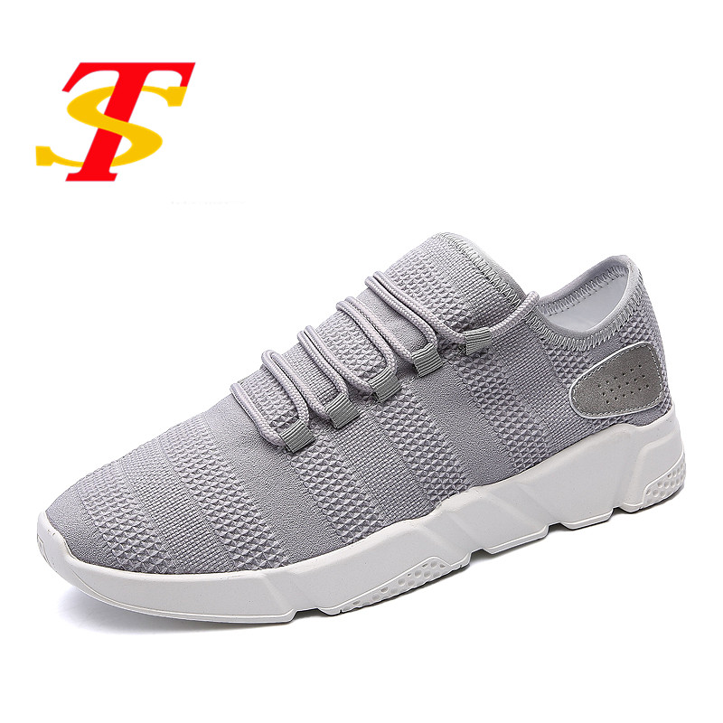 TS Men Shoes Men Casual Shoes Breathable Lace-Up Flats Fashion Light Male Footwear Anti-Odor Sweat-Absorbant Zapatos de hombre