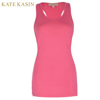 Kate Kasin Women Fitness Basic Racerback Tank Top Ladies Sexy Plus Size Cotton Crop Tops Workout
