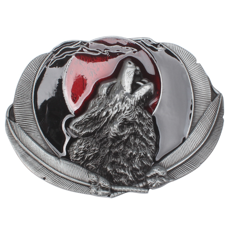 In Call Of The Wolf Cowboy Buckle