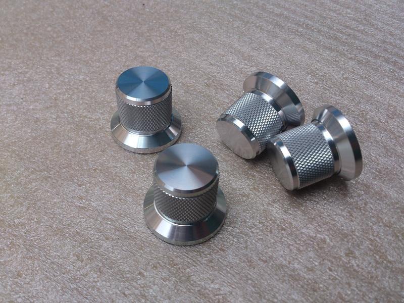 1pcs Silver / Black / Gold Diameter 30mm Height 25mm Full Aluminum Knob solid audio amplifier volume knob potentiometer knob