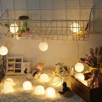 4 meters 20 Globes White Lantern Plastic Balls Fairy String Lights Home Decor Party Wedding Battery Operated
