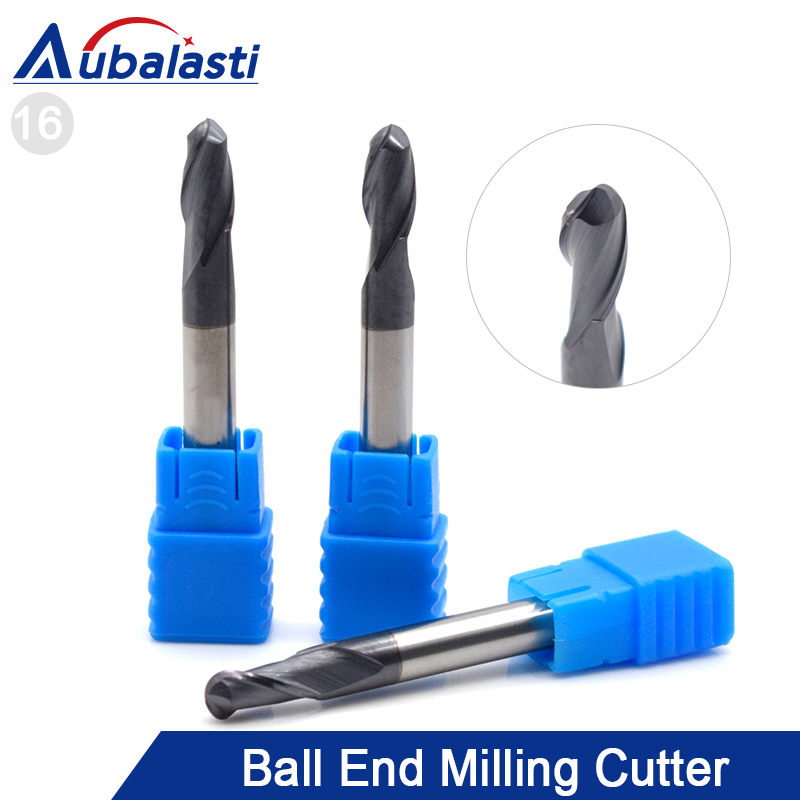 HRC45 2 Flutes Ball Nose End Mill Milling Cutter CNC Router Bits Tools CNC Milling Cutter Bits For Metal Cutting