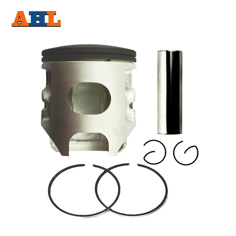 AHL Motorcycle 67mm Piston & Piston Ring Kit for YAMAHA YZ250 YZ 250 1999-2015  +60 Oversize 0.6mm rubing matching motorcycle accessories ca250 piston ring piston 250 3 piston ring