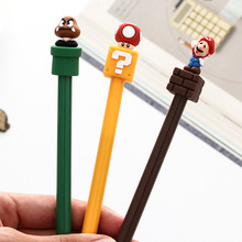 30 pcs/lot Super Mario Gel Pen for writing Cute black ink Signature Pen Escolar Papelaria School Office Supply Promotional Gift