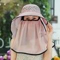 Шляпа солнца женский открытый складной шлем солнца анти-уф sunbonnet