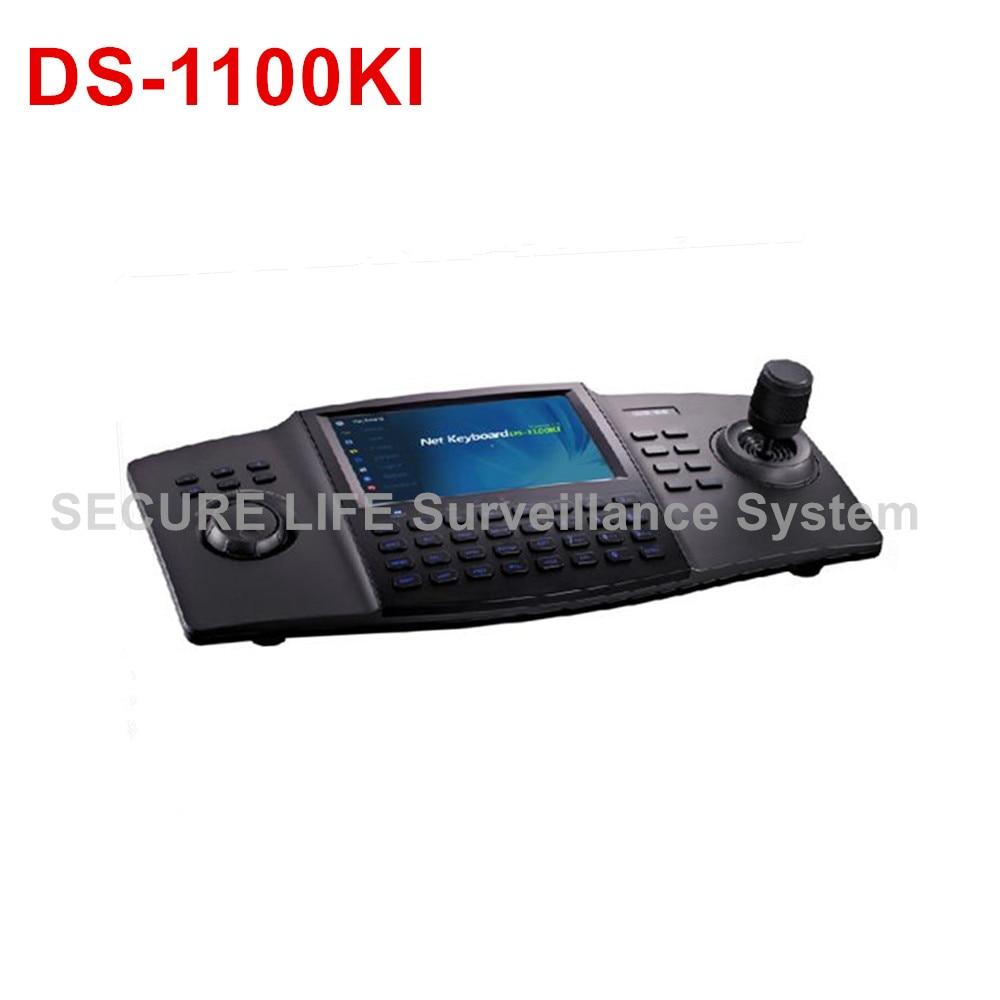 все цены на  In stock Original International English vesion DS-1100KI LCD touch panel CCTV DVR menu control and PTZ Control Keyboard  онлайн