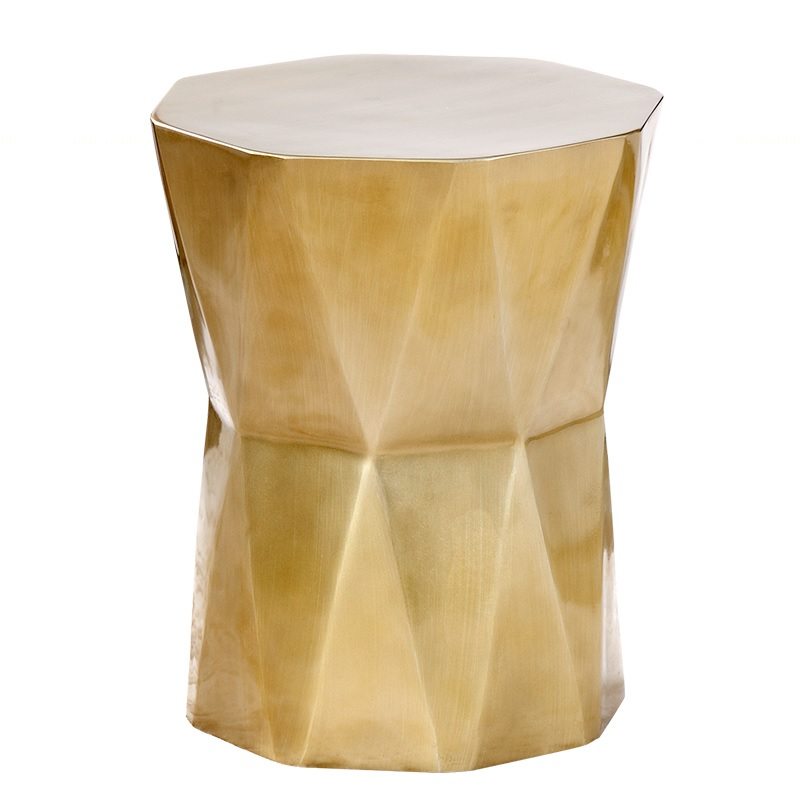 425mm High Coffee Table / Octagon Tea Table / Made of Fiberglass with Bronze Appearance, White Options end table
