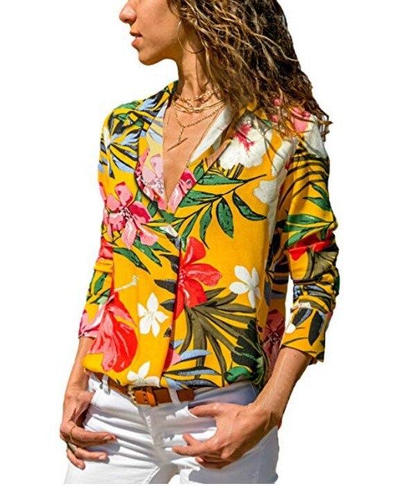 Womens Tops And Blouses Plus Size 4XL 5XL Long Sleeve Blusas Mujer De Moda 2018 Elegantes Florales Striped Print Women Blouse    2