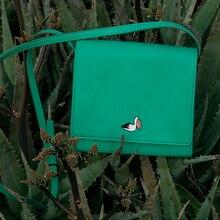 2016 YIZI PU messenger bag with metal fittings in birds series-crow/pelican/parrot/wild goose (FUN KIK)