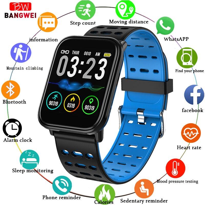 Brave Bangwei Smart Watch Full Screen Touch Smart Watch Blood Pressure Measurement Activity Tracker For Women Men Fitness Smart Watch Digital Watches
