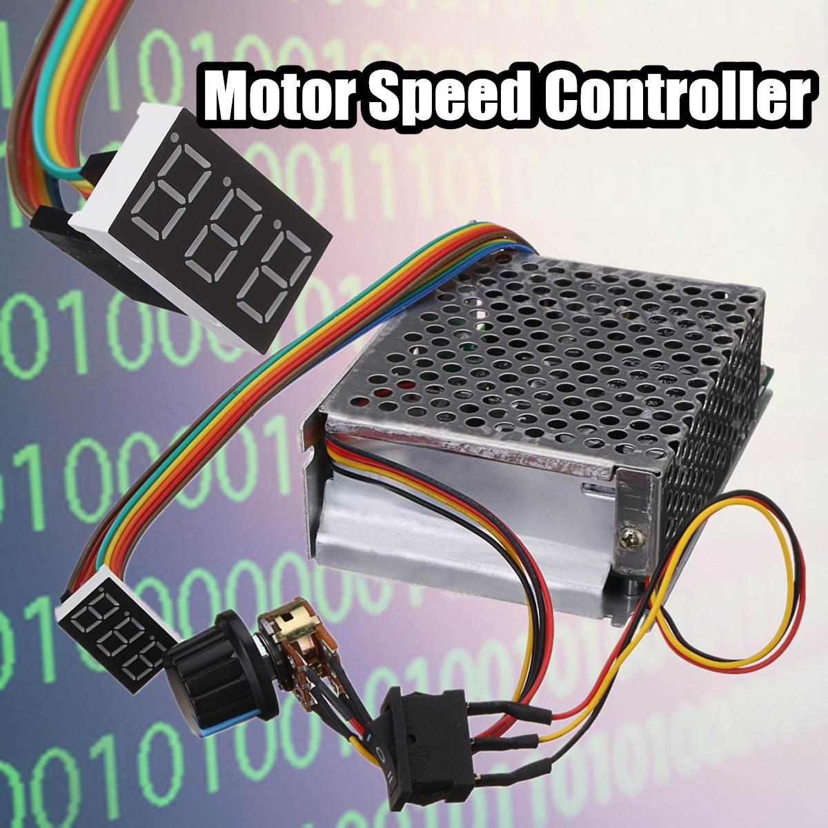 все цены на 1Pcs Reversible DC Motor Speed Controller DC10-50V 60A PWM Control 12V 24V 36V 48V Forward-Stop-Reversal Brake Digital Display онлайн