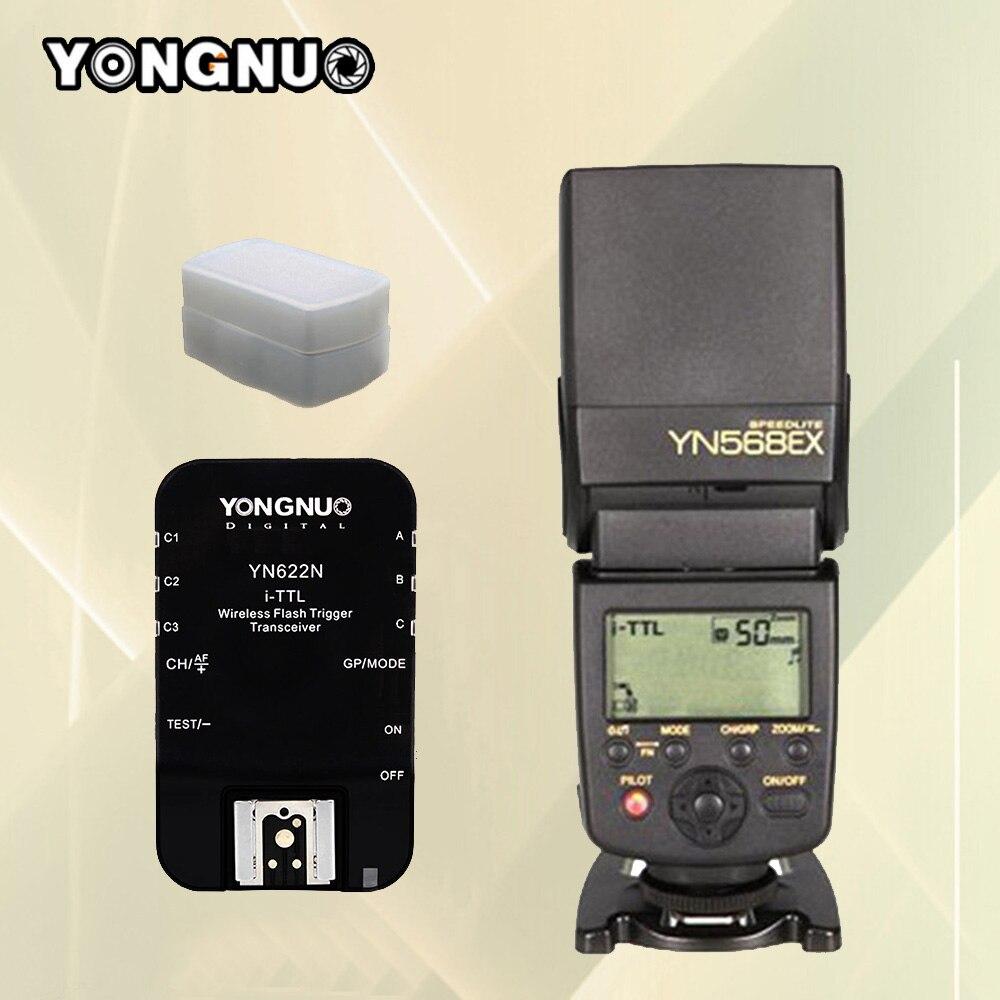 YONGNUO YN568EX YN-568EX TTL Высокоскоростной Флэш Speedlite + YN622N Флэш Трансивер Для Nikon D750 D7200 D7000 D600 D5200 D5300