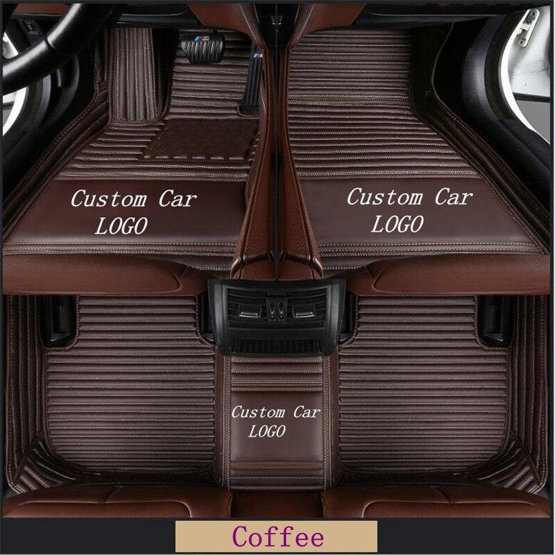 Tapis de sol tous temps FloorLiner pour Mercedes Benz SL320-SL400-SL450-SL500-SL550-SL600 voiture LOGO personnalisé tapis imperméables