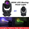 Hot Sales 2XLot 180W Led Moving Head Light DMX 13Chs, Hi-Quality 180W Spot Beam Moving Head Lights For Christmas Laser Projector