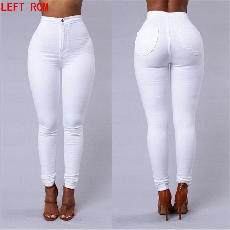 2017 summer Casual Women Jeans Pant Slim Stretch Cotton Denim Trousers for woman Fashion brand high waist Slim jeans jeans men s blue slim fit fashion denim pencil pant high quality hole brand youth pop male cotton casual trousers pant gent life
