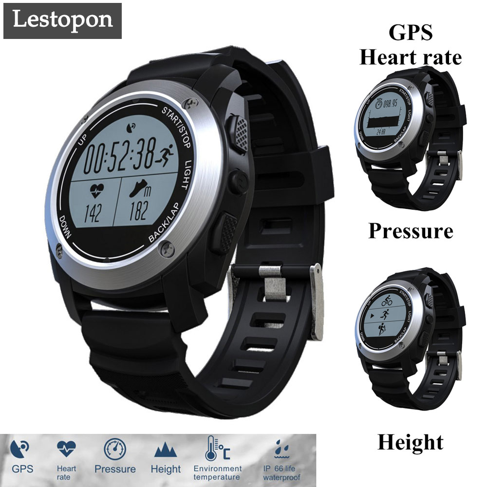 Lestopon Smart watch Bluetooth  Smartwatch Heart Rate Monitor Passometer GPS Fitness Tracker Band Sport For ISO & Android zaoyiexport bluetooth f69 smart watch ip68 fitness tracker heart rate monitor smartwatch for iphone xiaomi android pk gt08 dz09