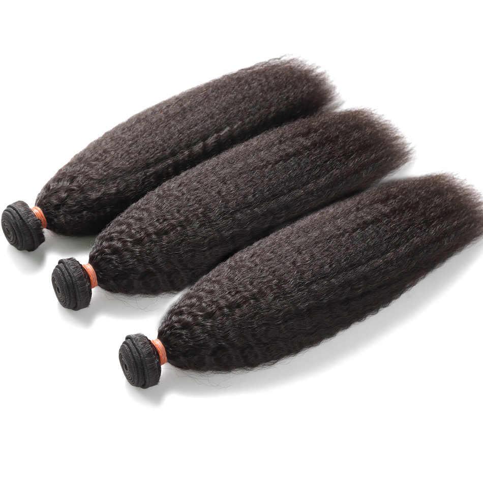 Wigirl 28 30 дюймов 3 4 монгольские кудрявые прямые человеческие волосы пучки с 4x4 кружева закрытие необработанные девственные человеческие волосы удлинение переплет