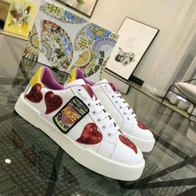 Yqing Red Heart Cow Leather Designer Sneakers Women Thick. US  72.80   Pair Free  Shipping 8e0cb63155eb