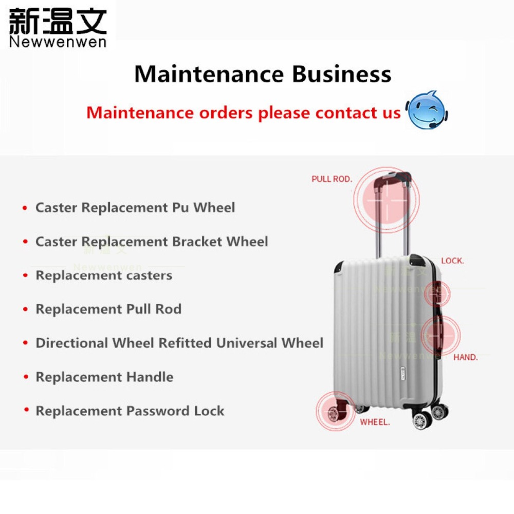 Suitcase Luggage Repair/Replacement business Luggage wheel, Handle, Telescopic Pull Rod, Customs Code lock/TSA LockSuitcase Luggage Repair/Replacement business Luggage wheel, Handle, Telescopic Pull Rod, Customs Code lock/TSA Lock