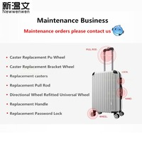 Suitcase Luggage Repair/Replacement business Luggage wheel, Handle, Telescopic Pull Rod, Customs Code lock/TSA Lock