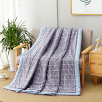 Japanese Gray Warm Comforter Geometric print Throws Blanket quilted Quilt 150x200cm 180x200cm 200x230cm Plaids Free Ship by UPS