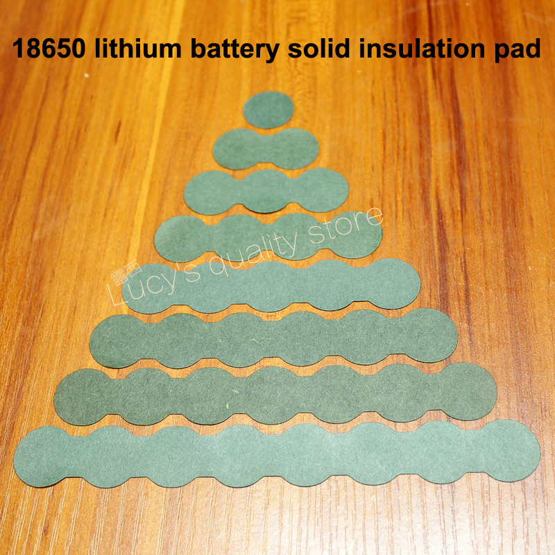 100pcs/lot 18650 Battery Pack Accessories Solid Insulation Pads 2/3 Ink Barrels Insulation Pads Green Shell Paper