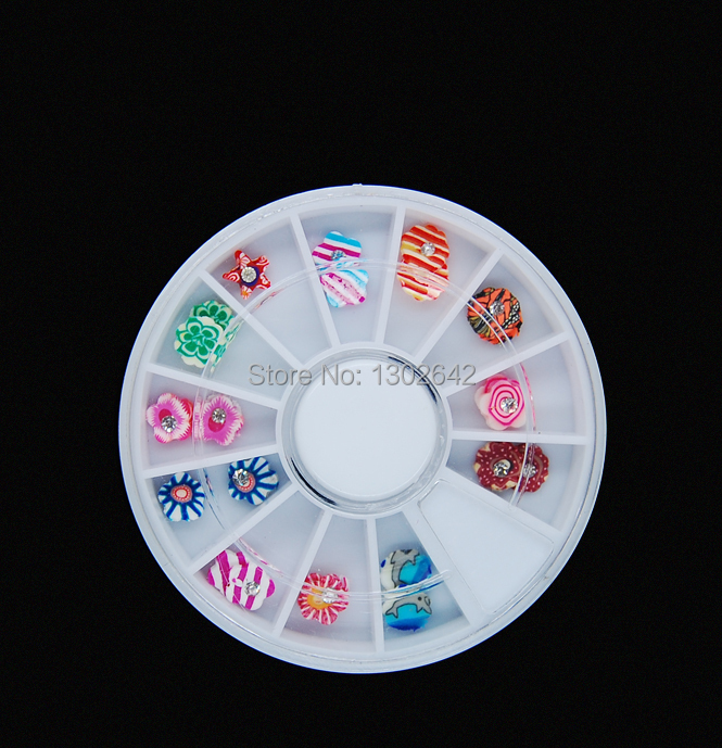ᗚW18 24 unids/set mezclar estilos Fimo 3D Polymer Clay Tiny ...