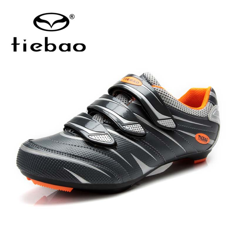 Tiebao MTB Cycling Bicycle Shoes for Shimano SPD System Bike Shoes Orange Black