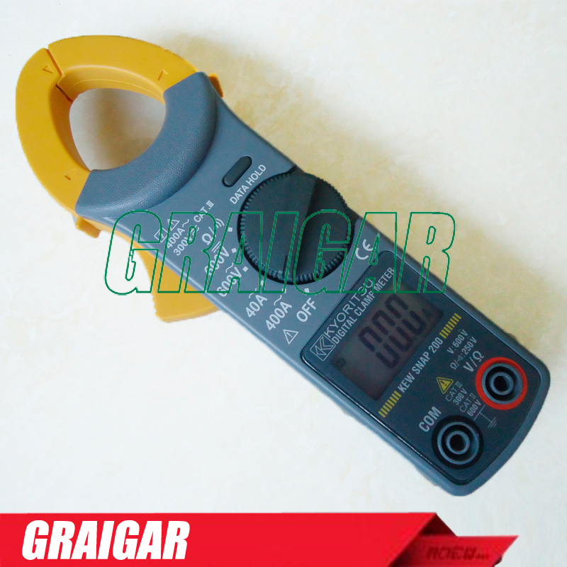 Kyoritsu KEW SNAP 200 DIGITAL DISPLAY AC DC Clamp Meter Tester trendy slimming round neck short sleeves button design solid color t shirt for men