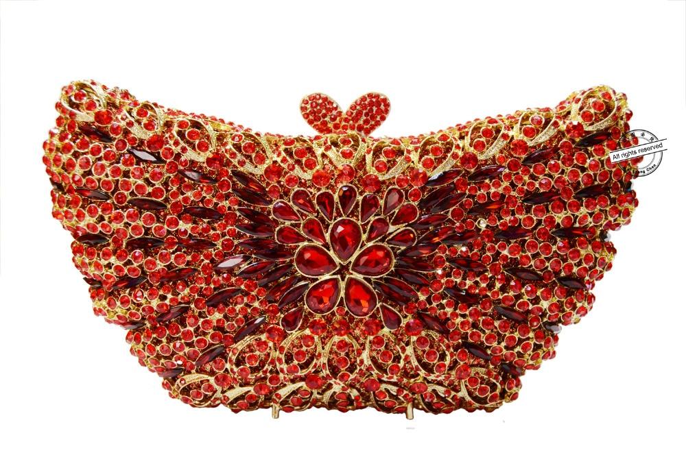 D'or Color Strass Embrayage Sac Papillon Coeur Élégant Femmes Motif b Luxe 88362 De En Clolor Cristal Soirée A wtxvqZ8R