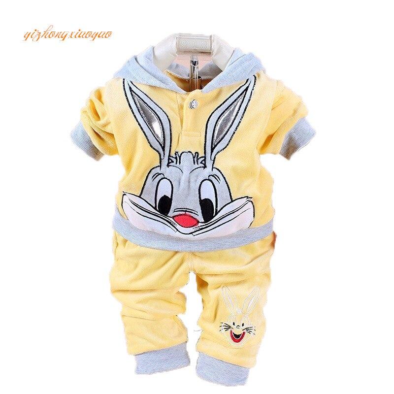 New Boys baby Girls Clothing Set Fleece Sport newborn Clothes Suit Cow Long Sleeve toddler tracksuit Cotton children boy Clothes
