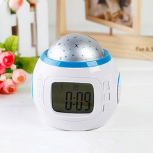 Digital Alarm Clock Student LED Display Sound Snooze Electronic Kids Clock Light Sensor Nightlight Projector Lamp Table Clock(China)
