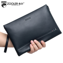 ZOOLER Brand Men Genuine Leather Wallet Top cowhide Men Wallets Clutch Plaid Leather Purse Carteira Masculina Phone Bag#80026