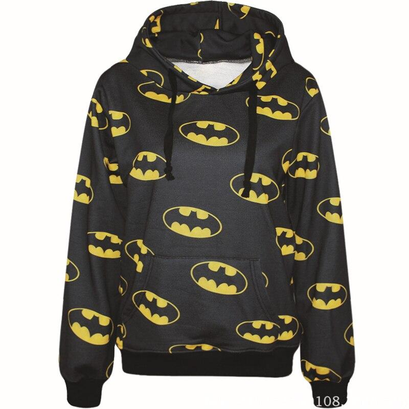 Harajuku 3D Print Hero Bat Man Sweatshirt Fashion Long Sleeve With Hat Men Women Bat Hoodies Cartoon Hoody Hooded Pullover free