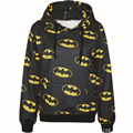 Harajuku 3D Print Super Hero Batman Sweatshirts Fashion Long sleeve with hat Men Women bat Hoodies Cartoon Hoody Hooded Pullover