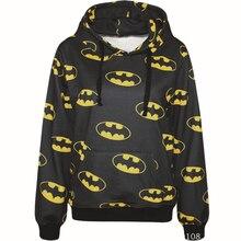 Harajuku 3D Print Super Hero Batman Sweatshirts Fashion Long sleeve with hat Men Women bat Hoodies Cartoon Hoody Hooded Pullover