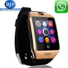 Q18 Más El Notificador de Sincronización de Reloj Reloj inteligente Soporte de Tarjetas SD Sim Conectividad Bluetooth Android Teléfono Smartwatch Smartwatch de Aleación