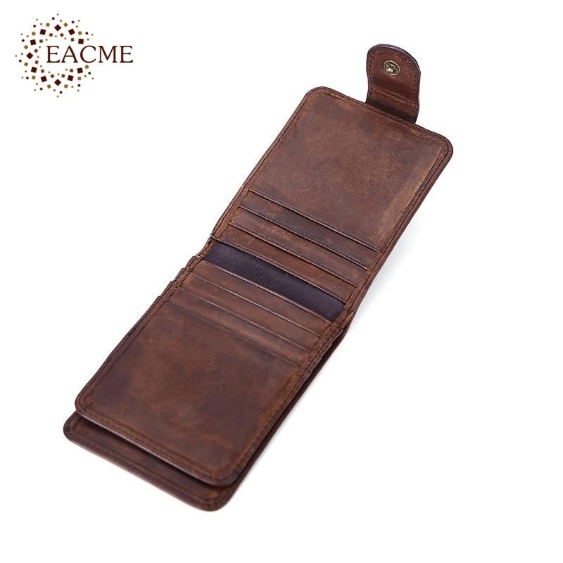 Goedkope Retro Bank.Wholesale Retro Leather Card Wallet Men Business Bank Card Holder